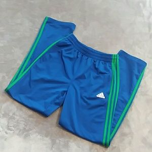 Adidas boys size 14/16 L blue & green track pants
